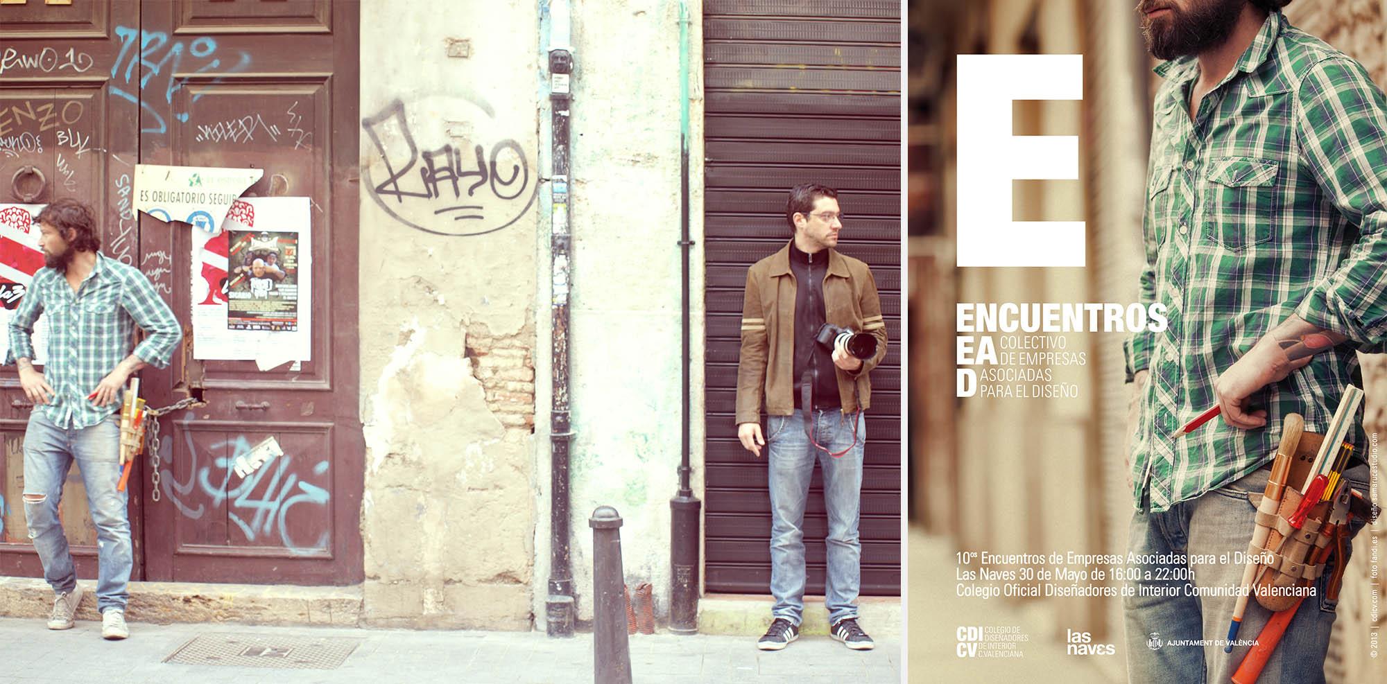 Encuentros EAD 2013 | Proyecto de diseño gráfico para el CDICV Colegio Oficial de Diseñadores de Interior de la Comunidad Valenciana | samarucestudio.com