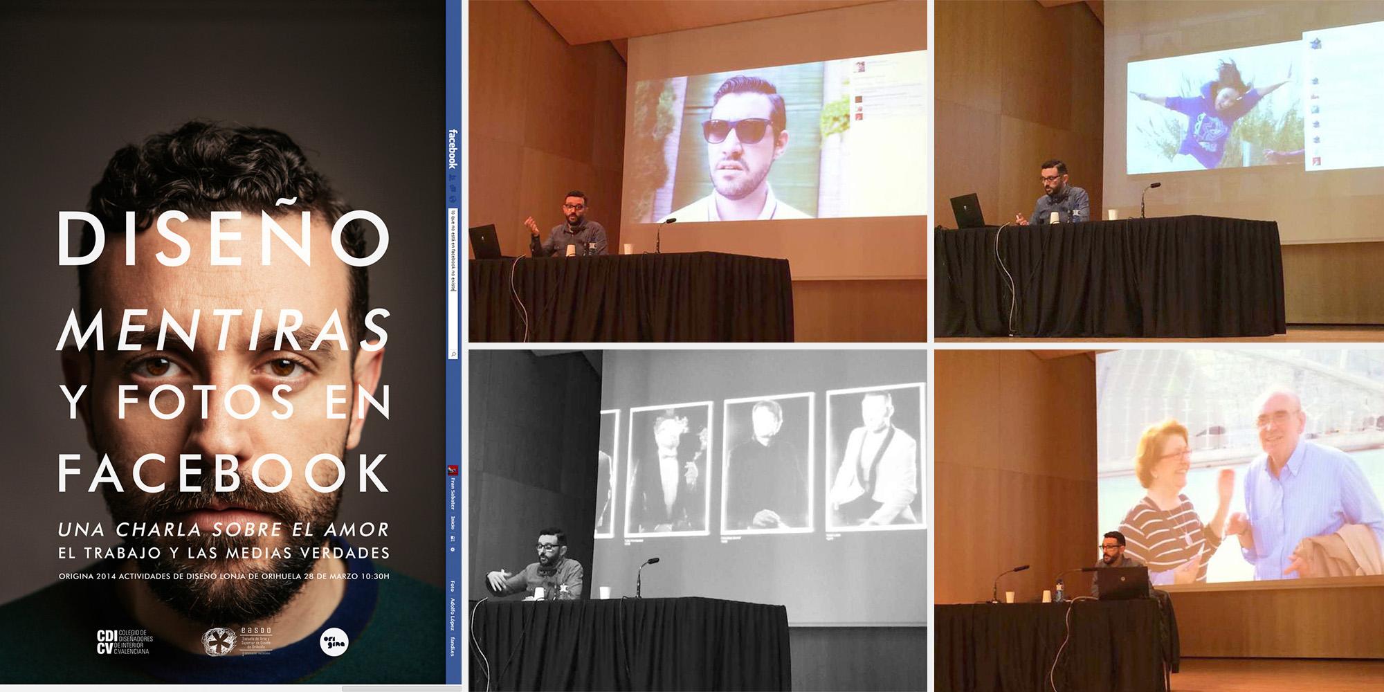 Origina 2014 | Diseño, mentiras y fotos en Facebook | Charla de colegiación en la Escuela de Diseño de Orihuela 2015 | CDICV